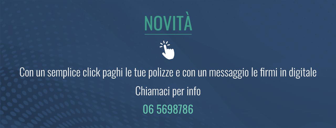 Con un semplice click paghi le tue polizze e con un messaggio le firmi in digitale